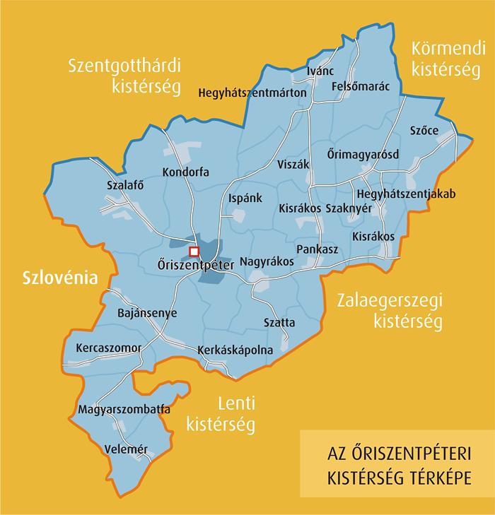 őrség térkép Térképek   Őriszentpéter, az Őrség fővárosa